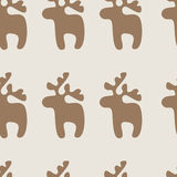 Pattern with reindeer Royalty Free Stock Images