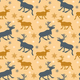 Pattern with reindeers Royalty Free Stock Images