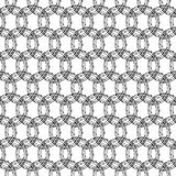 Pattern with repeating circles of barbed wires Royalty Free Stock Photos