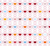Pattern with repeating hearts Royalty Free Stock Photography