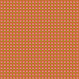Pattern of repeating red sun on a green Royalty Free Stock Photos