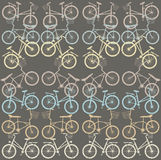 Pattern with retro bicycles Royalty Free Stock Image