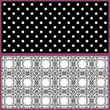 Pattern with retro combined ornamental elements background Stock Photos