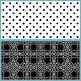 Pattern with retro combined ornamental elements background Stock Photo