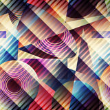 Pattern in retro cubism style. Royalty Free Stock Photo