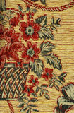 Pattern of a retro floral tapestry Royalty Free Stock Photo