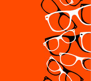 Pattern retro hipster sunglasses Stock Photos