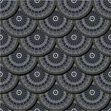 Pattern with retro style motifs Royalty Free Stock Photos