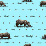 pattern with rhino royalty free stock images