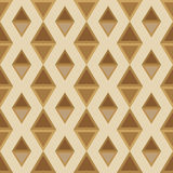 Pattern of rhombuses seamless brown palette Stock Image