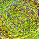 The pattern of the rings. Abstract wallpaper with interlaced rings and symmetry Royalty Free Illustration