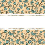 Pattern rip paper Stock Image