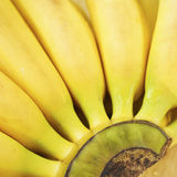 Pattern of the ripe bananas Royalty Free Stock Photography
