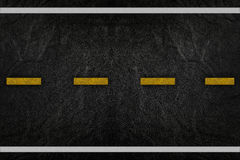 Pattern on road texture. With yellow stripe royalty free stock images