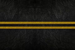 Pattern on road texture. With yellow stripe stock photos