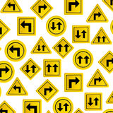 pattern road traffic sign with arrows set Royalty Free Stock Photos