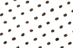 A pattern of roasted coffee beans royalty free stock photo
