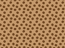 Pattern with roasted coffee grains. Seamless pattern with roasted coffee grains Royalty Free Stock Photography