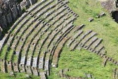 Pattern of Roman Theater ruins Stock Images