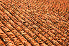 Pattern of roof tiles background Royalty Free Stock Photos
