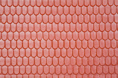 Pattern of roof of toy house, in form of tile Stock Photography