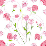 Pattern with rose Royalty Free Stock Photo