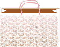 Pattern rose bag_1 Royalty Free Stock Photography