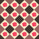 Pattern Rose Geometry. Seamless Design Royalty Free Illustration