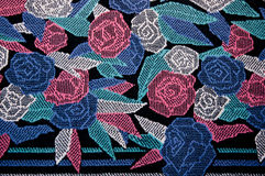 The Pattern rose on rug Royalty Free Stock Image