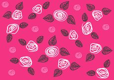 Pattern_roses Stock Photography