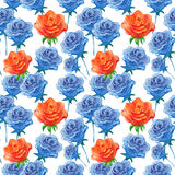 Pattern with roses Stock Photo