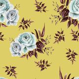 Pattern with roses vector illustration