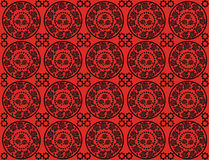 Pattern with roses. Floral pattern with roses in a circle Stock Illustration