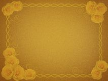 Greeting card with yellow roses Royalty Free Stock Images