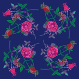The pattern of roses and rosebuds Royalty Free Stock Image
