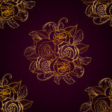 pattern with roses Royalty Free Stock Photography