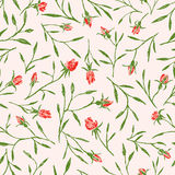 Pattern of the roses twigs Royalty Free Stock Photos
