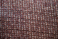 Pattern of rough brown fabric Stock Photo