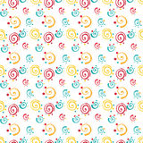 Pattern with the roulettes and dots Stock Images