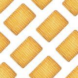 A pattern of round cookies on a white background Stock Photo