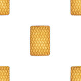 A pattern of round cookies on a white background Royalty Free Stock Photo