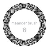 Pattern round ornament meander Royalty Free Stock Photos