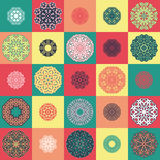 Pattern with round ornaments Royalty Free Stock Photo