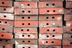 Pattern row metal form work. Royalty Free Stock Images