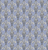 Pattern With Royal Lilies Stock Photo