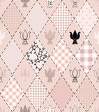 Pattern with royal lilly Stock Photo