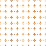 Pattern with royal lily. Royal lily seamless background on white Royalty Free Stock Photos
