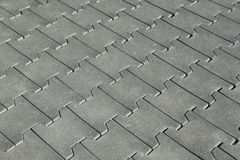 Rubber tiles floor Stock Photo