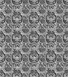 Pattern - russian copecks in black and white Royalty Free Stock Images