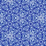 Continuous pattern in russian style - traditional gzhel. Pattern in russian style - traditional gzhel stock photo